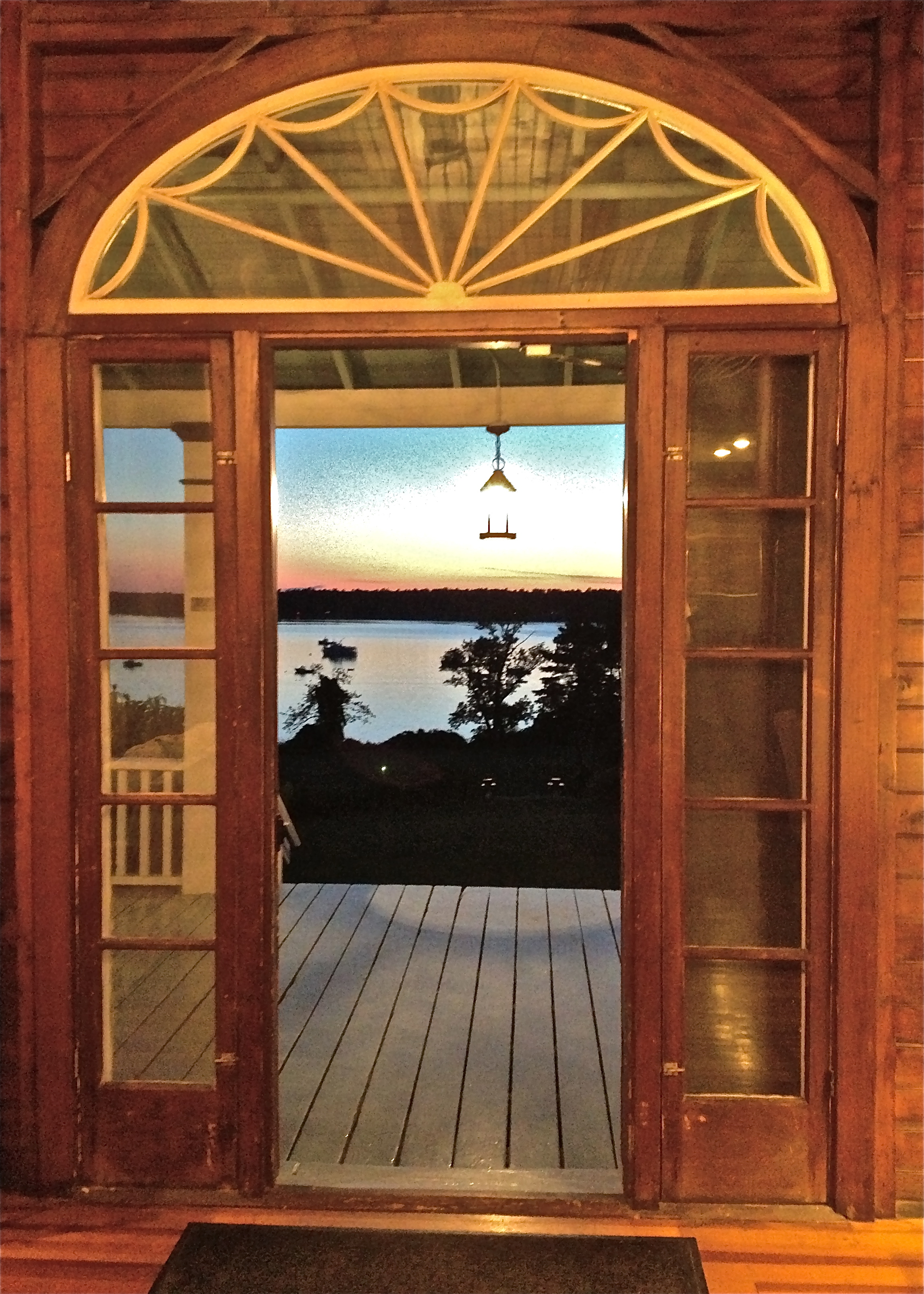 Chebeague Sunset through Door